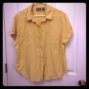 Chico's short sleeve button down shirt